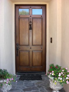 WOOD FRONT DOORS | front door painted before wood faux techinique is applied Front door ...