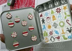 Use Spooky Bingo Bits for Halloween. Christmas Jolly Bingo Bits - Patty's Stamping Spot Make matching game for toddlers