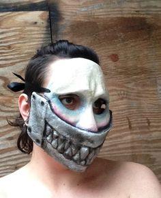 Nightmare Mask Paper Mache metal mask Horror scary mask by MarysMonstrosities on Etsy https://www.etsy.com/listing/230837926/nightmare-mask-paper-mache-metal-mask