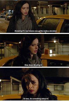 """""""Knowing it's real means you gotta make a decision"""" - #JessicaJones"""