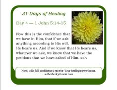 31 Days of Healing -- Day 4