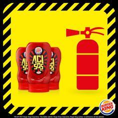 Burger King® Acı Sos'un ateşini söndürmek için yangın söndürücüye ihtiyacın olabilir! :)