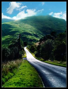 A road in Wales
