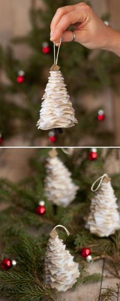 How cute are these Felt Tree Ornaments from This Heart of Mine? Simple enough to make and fits perfect tugged into a mug w/ a Starbucks gift card. Invite your girlfriend out for coffee to catch up and exchange a quick gift #HolidayHelp