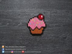 Cupcake Perles Hama / Cupcake Perler Beads