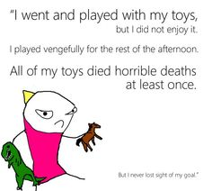 Hyperbole and a Half by Allie Brosh. The writing? Funny Picture Quotes, Cute Quotes, Funny Pictures, Funny Pics, Hyperbole And A Half, Funny Anecdotes, 4 Panel Life, Just Smile, Really Funny