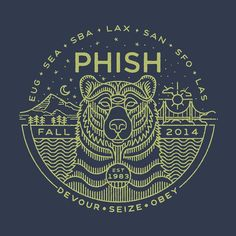 Instagram photo by briansteely - Here's a little nugget I did for Phish for their fall tour. Pick up your shirt or hoodie if you're making it to one of these left coast shows! Cheers! #phish