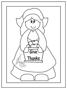 pilgrim boy and girl coloring pages | Coloring pages on Pinterest | Coloring Pages, Thanksgiving ...