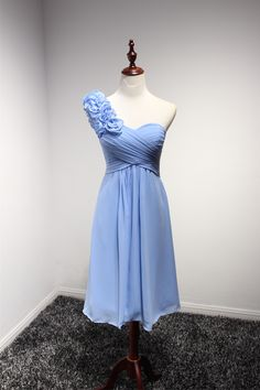 One Shoulder neckline Sweety Short Cocktail Dress