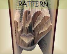 Book folding Pattern Heart in Hand design by TheFoldedBookCompany, £6.00