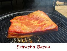 This bacon isn't overly spicy, so don't fear the Sriracha. Sriracha has such a great flavor, and it really isn't overwhelmingly hot (well, to me at least). The bacon definitely has Sriracha flavor, and color. Add more Sriracha to the recipe if you want it spicier, but I felt the amount I used was just perfect for us.