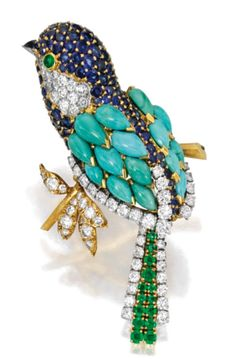 >>>Cheap Sale OFF! >>>Visit>> 18 Karat Gold Platinum Colored Stone and Diamond Brooch Van Cleef Arpels France Bird Jewelry, Animal Jewelry, Jewelry Design, Antique Jewelry, Vintage Jewelry, Faberge Eier, Pierre Turquoise, Van Cleef And Arpels Jewelry, Look Vintage