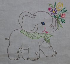 Elephant quilt square | Flickr - Photo Sharing!