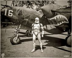 Clone Trooper with P-38 Lightning    © Tony Leone -  Limited Edition #1/10 -