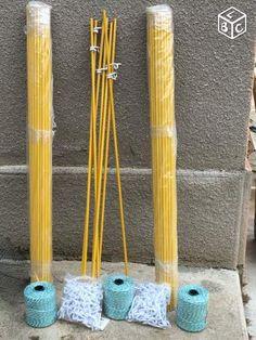 Piquets de clôture fibre de verre jaune
