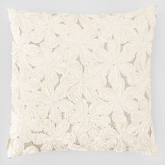 Sivaana White Flower Decorative Pillow  | Bloomingdale's
