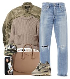 """""""Seasonal"""" by oh-aurora ❤ liked on Polyvore featuring moda, Maison Margiela, MAC Cosmetics, adidas Originals, NIKE, Givenchy y Citizens of Humanity"""