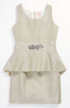 Zoe Ltd Reptile Peplum Dress (Big Girls) available at Nordstrom