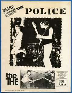 1979 The Police NYC Appearance Concert Poster First US Tour