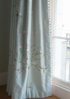 Susie Watson Bird & Tree fabric with trim