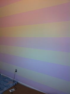 The finished product-DIY nursery stripes-Check it out at Casual Elegance Blog