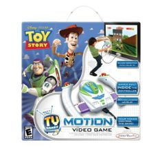 Toy Story Motion Video Game by Jakks. $37.91. Plug it in and play, no console or additional software needed. Console quality graphics. Cool controller. Your moves control the action onscreen. Motion controlled. From the Manufacturer                Get into the action with the Toy Story Motion Video Game. You control the action onscreen. Just plug it in and play.                                    Product Description                Get into the action with the Toy Story Mot...