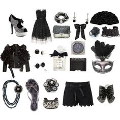 Black and Silver!, created by emma-christene-dasco on Polyvore
