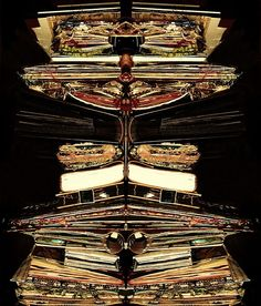 Studio Photograph - Altered Books and Journals by TwoDressesStudio 2011  (mirrored image??)