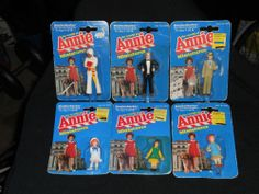 THE WORLD OF ANNIE MINIATURES, LOT OF 6 FIGURES, KNICKERBOCKER