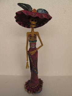 Beautiful CATRINA  mexican folk art    day of by CatrinaSanMiguel