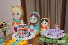 Festa tema Matrioskas | Macetes de Mãe