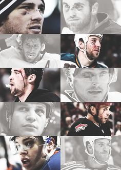 The bruised faces of the NHL. There's something about them.....