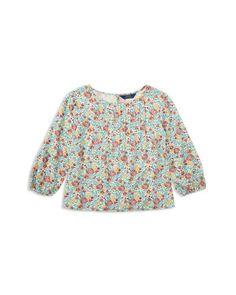 Ralph Lauren Childrenswear Girls' Floral Print Peasant Top - Big Kid