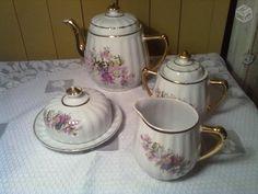 Aparelho para chá em porcelana,vintage,década de 5