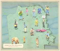 A map about San Francisco from Infinite city by Rebecca Solnit