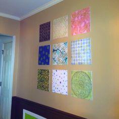 I did it! Scrapbook paper wall art!