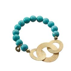 Turquoise, goldplated rings, silver925, the perfect summer bracelet!