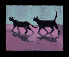 Black Cats at Night by pleetart