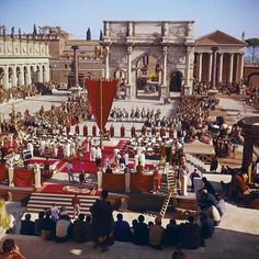 """The set of Elizabeth Taylor's epic 1963 film """"Cleopatra,"""" which has been newly remastered and rereleased in honor of its 50th anniversary."""
