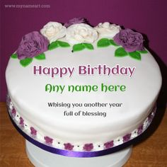 Advance Happy Birthday Wishes Cake With Name Happy Birthday Cake Writing, Birthday Cake Write Name, Heart Birthday Cake, Image Birthday Cake, Golf Birthday Cakes, Happy Birthday Wishes Cake, Birthday Cake For Husband, Happy Birthday Cake Images, Birthday Cake With Photo