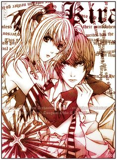 Misa Amane and Light - Death Note