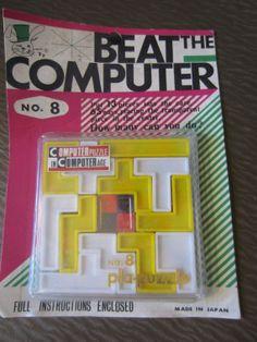 Vintage 1969 BEAT The COMPUTER No.8 Computer by kookykitsch, $18.00