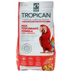 Tropican High Performance Sticks Parrot Food Higher nutrient content, great for converting your larger Parrot from a seed based diet. Containing no artificial preservatives, colours and flavours, this premium food is suitable for Parrots including Amazons, Cockatoos and Macaws of all ages, from juveniles up to adult.