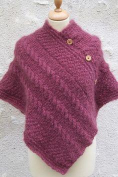 photo tricoter un poncho