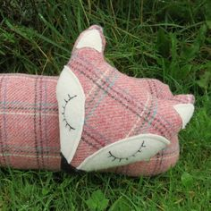 Long fox. A tartan draught excluder made from by TheSherbetPatch
