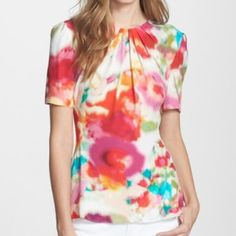 Beautiful water color inspired top by Kate spade Beautiful water color inspired top by Kate spade kate spade Tops Blouses