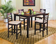 Homelegance D758-34 Townhouse Pub Dining Collection by Homelegance. $665.00. Townhouse Pub Dining Collection by Homelegance D758-34. This pub dining set features a simple, urban design with seating for eight when the leaf is fully extened; it's perfect for dinner gatherings or afternoon tea party. The cherry venner top and the selected hardwood construction is finished in a rich merlot finish. Available in two popular heights. Please refer to the Specifications to determ...