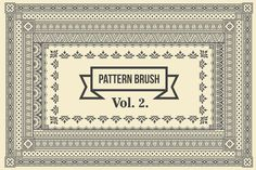 Vintage Borders Pattern Brushes 2 by G7 on @creativework247