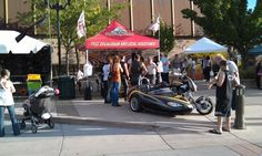 Russ Brown Motorcycle Attorneys booth at Street Vibrations Spring Rally, Sparks, Nevada.