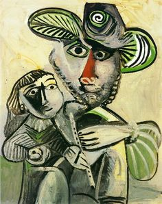 "artist-picasso: "" Paternity, 1971, Pablo Picasso Size: 146x114 cm Medium: oil on canvas"""